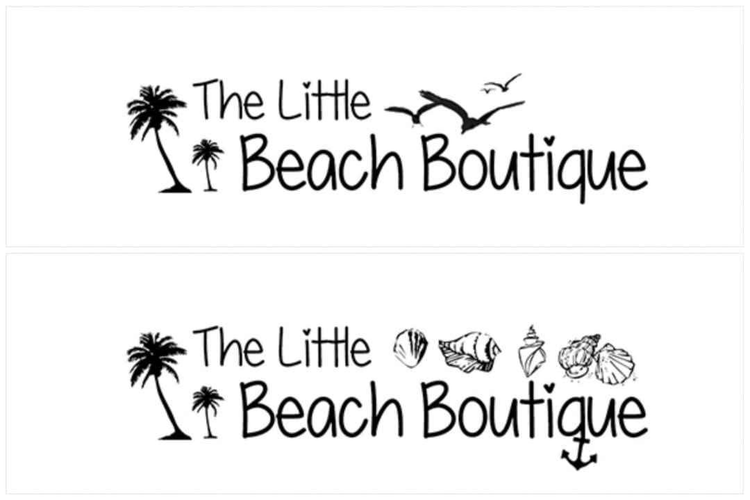 """The Little Beach Boutique"" logóterv"