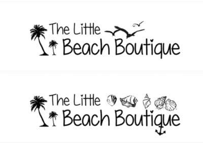 """The Little Beach Boutique"" logóterv"