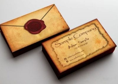 """Antique"" névjegykártya terv"