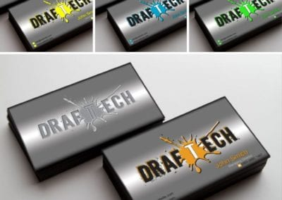 """DrafTech"" business card and logo design"